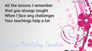 Best 20 Happy Birthday Wishes for Teacher