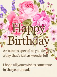 Best 20 Happy Birthday Wishes for Aunty