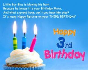 3 year old birthday poems