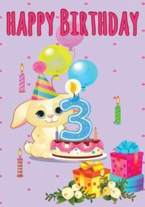 happy 3rd birthday cake