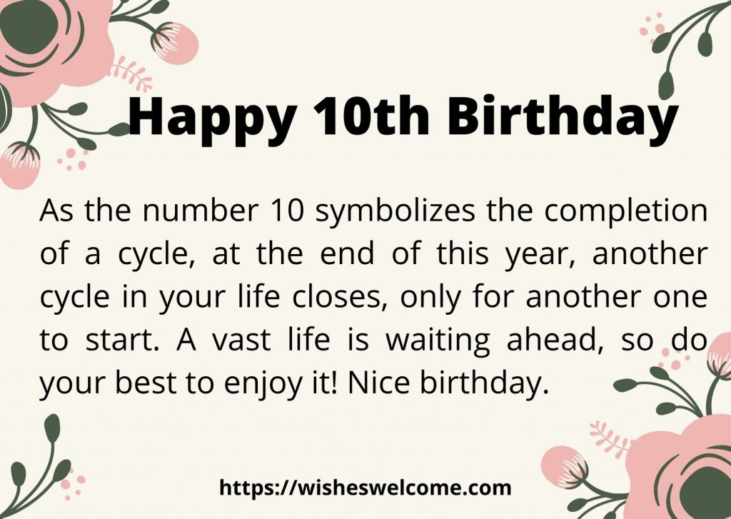 Happy 10th birthday messages