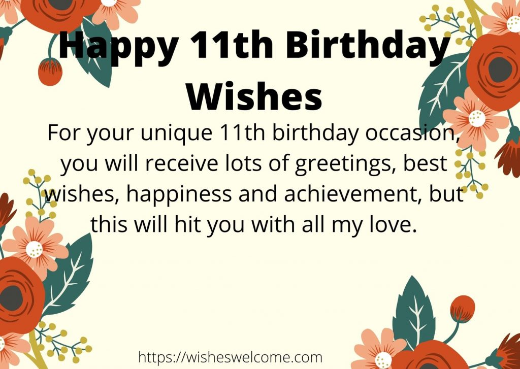 Happy 11th Birthday wishes