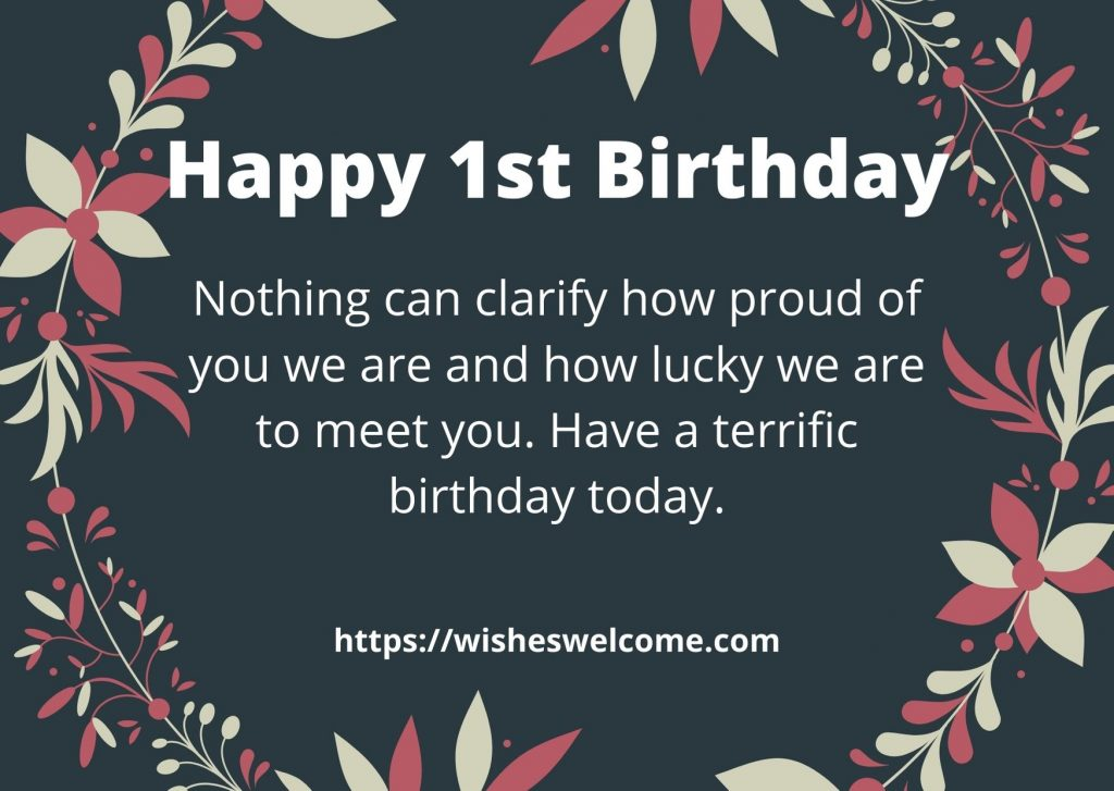 Happy 1st birthday messages