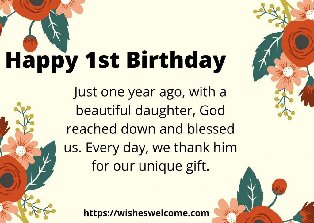 Happy 1st birthday wishes