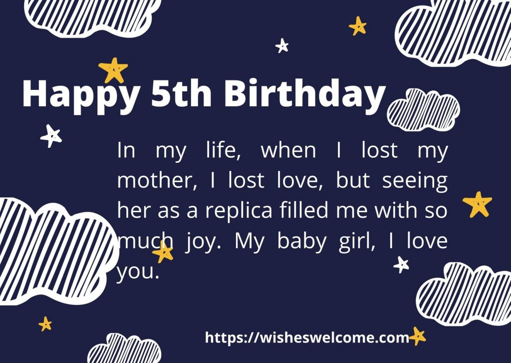 Happy 5th birthday messages