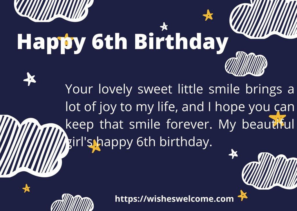 Happy 6th birthday qoutes