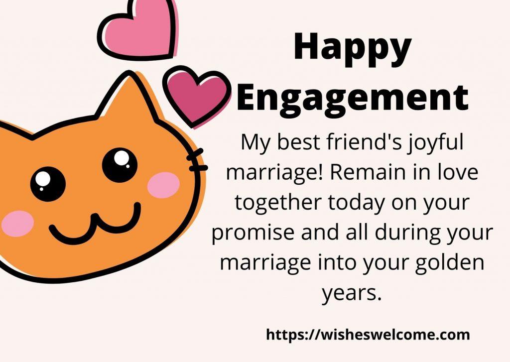 happy engagement dear friend