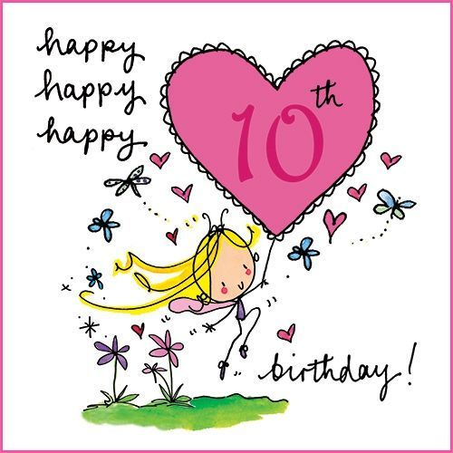Happy 10th birthday Girl images