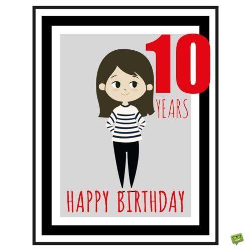 Happy 10th Birthday Wishes, Messages and Special Cards